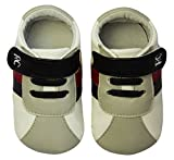 Rose & Chocolat RCM  White Grey RunnerZ - Zapatillas de running para bebé-niños, color blanco, talla 20