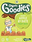 Organix Apple and Date Chunky Fruit Bars 6 x 17 g (Pack of 6, Total 36 bars)