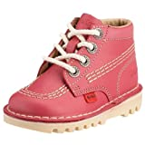 Kickers Unisex - Child Core Classic Trainers Kids Unisex Boots - Blossom/Natural, 8.5 UK Child
