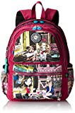 Nicole Lee Water Resistant 17 Inch Laptop Backpack Series 3, Cupcake Girl, One Size