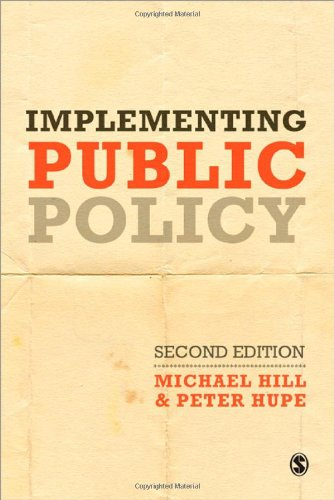 Implementing Public Policy: An Introduction to the Study of Operational Governance