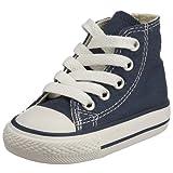 Converse Chuck Taylor All Star Core Hi - Botines de lona infantiles, color azul, talla 24