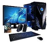 """Vibox Extreme Pacchetto 10 Gaming PC con Gioco War Thunder, 21.5"""" HD Monitor, 4.2GHz AMD FX Quad Core Processore, nVidia GeForce GTX 960 Scheda Grafica, 2TB HDD, 32GB RAM, Case Tactician, Neon Blu"""