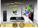 DroidBOX X7 Android TV Box with remote - Movies & TV Kodi 15.1 Isengard AirPlay UPnP DLNA IPTV Mini Web Streaming HTPC Player, QuadCore Rockchip RK3188T 1Gb Ram, 8GB Internal Memory, WiFi, 100mbps LAN, 1080P 3D, Mali400 High Performance 3D GPU