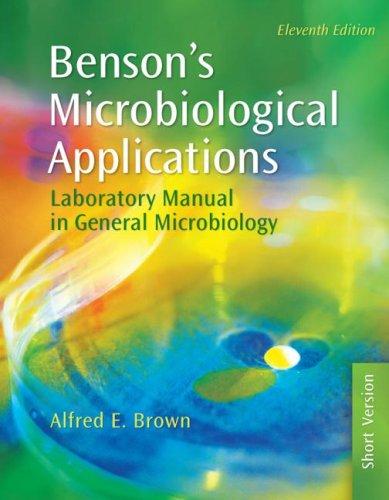 benson s microbiological applications laboratory manual in general rh studyblue com McGraw-Hill Microbiology Lab Manual Benson Microbiology Lab Manual