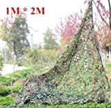 "NuoYa005 Woodland Camouflage Camo Net netting Camping Military Hunting 39*78"" 1mx2m"