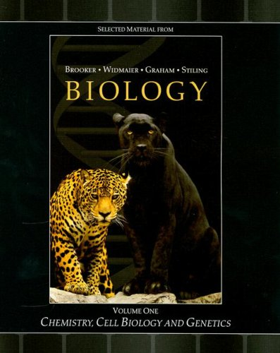 Selected Material from Biology, Volume 1: Chemistry, Cell Biology and Genetics