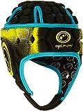 Optimum Men's Atomic Protective Head Guard - Black/Blue/Yellow, Large