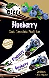 Oskri Dark Chocolate Fruit Bar, Blueberry, 1.58 Ounce (Pack of 20)