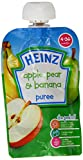 Heinz Apple/ Pear and Banana Fruit Pouch 4-36 Months 100 g (Pack of 6)