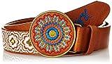 Desigual CINT_CHAPON BORDADO GEO-Cinturón Mujer    marrón 95 cm