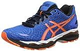 Asics Gel Nimbus 18 - Zapatillas de running unisex, color azul / naranja / negro, talla 43.5