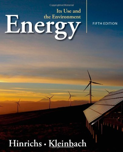 Energy: Its Use and the Environment