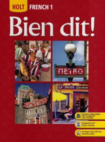 Bien Dit: French 1 (French Edition)