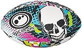 Optimum Men's Skull Rugby Ball - Multi-Colour, Size 4