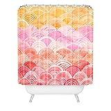 Cori Dantini Warm Spectrum Rainbow Shower Curtain, 69 x 72