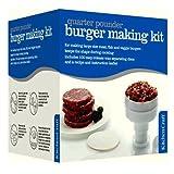 Burger Hamburger Maker / Press + 100 Wax Discs, Recipes & Seasoning - 8.5cm
