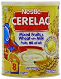 Nestle Cerelac Stage 3 From 8 Months Mixed Fruits and Wheat with Milk 400 g (Pack of 4)