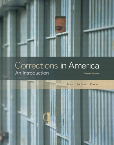 Corrections in America: An Introduction (12th Edition)
