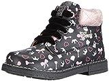 Geox B GLIMMER D - Zapatos primeros pasos de cuero para niña multicolor Mehrfarbig (C0618BLACK/PINK) 23