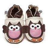 Suaves Zapatos De Cuero Del Bebé Búho 12-18