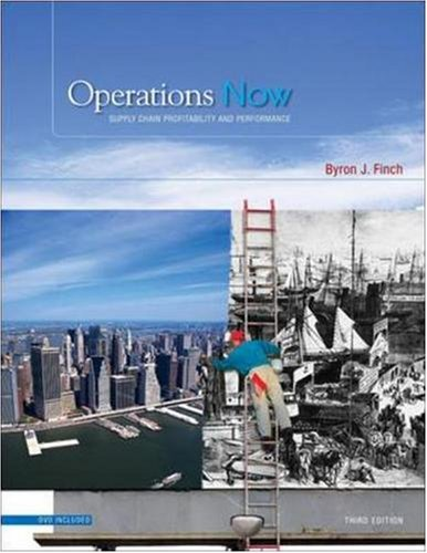 Operations Now: Supply Chain Profitability and Performance with Student DVD (Mcgraw-Hill Irwin Series Operations Management)