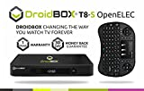 DroidBOX T8-S with DroidBOX i8+ Mini Keyboard 4K UHD Android TV Set Top Box with Dual Boot Android 4.4.2 KitKat and OpenELEC - Kodi 15.2 Isengard - AirPlay UPnP DLNA IPTV Mini Web Streaming HTPC Player - 2.0GHz S802 Super Fast CPU 2GB Ram 8GB Rom