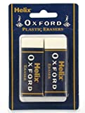 Helix Oxford Large Sleeved Erasers (Pack of 2) Y27012