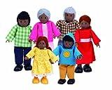 Hape E3501 - Familia de muñecos, piel oscura