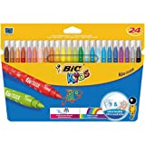 Bic Kids Kid Couleur Colouring Pens (Pack of 24)