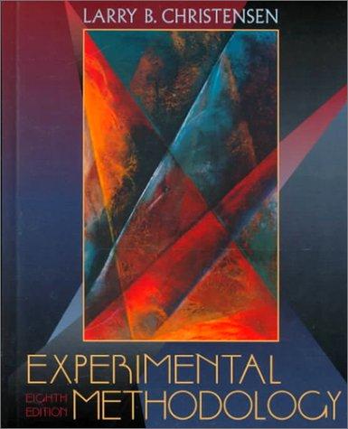 Experimental Methodology (8th Edition)
