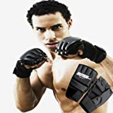 Malloom® Cool MMA Muay Thai Training Punching Bag Half Mitts Sparring Boxing Gloves Gym