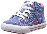 Le Coq Sportif Saint Malo Mid Dots Inf - Zapatos primeros pasos de canvas para niña azul Bleu (Navy Washed) 27