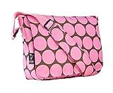 Wildkin - Big Dots Rosa Kickstart Messenger Bag, Puntos grandes rosado, Lunares rosados grandes, Kickstart Messenger Bag