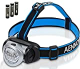 LED Head Torch Flashlight for Camping, Running, Cycling, Climbing, Reading, DIY & More! Best Headlamp w/ *FREE* Batteries Is Lightweight & Comfortable - Makes a Great Gift