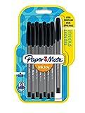 Papermate InkJoy 100 CAP 1.0 mm Medium Tip Capped Ball Pen - Black (Pack of 8)
