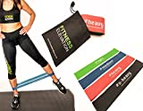 Looped Resistance Bands | Set of 4 Non Snap Exercise Bands | For Mobility & Strength, Injury, Physio, Rehabilitation, Yoga, Pilates, Cross Fit, HIIT, Boxing, | Our #1 Seller | Life Time Guarantee