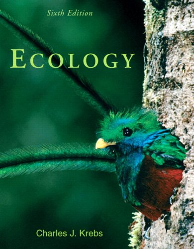Ecology: The Experimental Analysis of Distribution and Abundance (6th Edition)