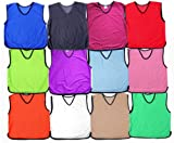 Training Bibs Football Soccer Rugby Sports Bibs Choice of 16 Colours & 4 Sizes