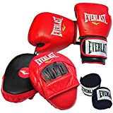 Everlast Leather Boxing Gloves Set