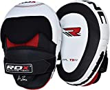 Authentic RDX Cow Hide Leather Focus Pads,Hook & Jab Mitts,MMA Boxing Kick Gloves