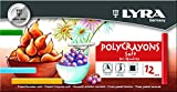 Lyra Polycrayon Soft 5651120 Pastels Cardboard Pack 12 Assorted Colours