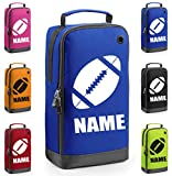 Personalised Rugby Boot Bag with Carry Handle - Rugby Ball Themed - (PLEASE GO TO ADD GIFT OPTION BEFORE CHECKOUT....ENTER NAME & COLOUR IN FREE GIFT MESSAGE SECTION.... AND SAVE)