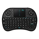 Rii Mini i8 Wireless (layout Español) - Mini teclado ergonómico con ratón touchpad para Smart TV, Mini PC Android, PlayStation, Xbox, HTPC, PC, Raspberry Pi (Rii mini i8 Nergo)