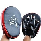 VicTsing 2Pcs Focus Boxing Pads Hook & Jab Mitts Kick Boxing MMA Martial Arts Fight Training - Black/Red