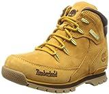 Timberland Euro Rock - Botas de cuero niño, Amarillo (Jaune (Wheat)), 34 EU / 2 UK