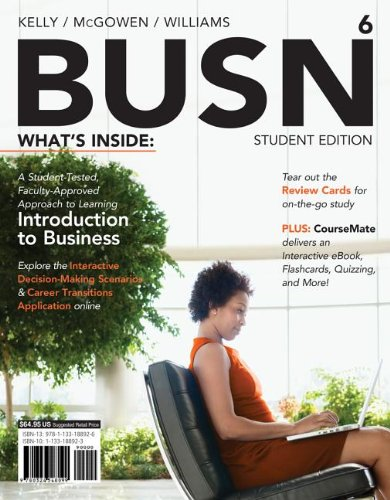 BUSN 6 (with CourseMate Printed Access Card)