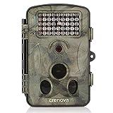 "Crenova 12MP 1080P HD Infrared Game&Trail Camera 42 Pcs IR LEDs 120°Wide Angle Night Vision 2.4"" LCD Display Waterproof Hunting Scouting Camera Digital Surveillance Camera"