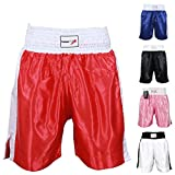 TurnerMAX Boxing Shorts for Training Gym Club Fighting Cage MMA Boxing short Red, L