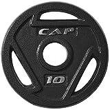 Cap Barbell Disco olímpico de pesas libres, con asideros, 10 lbs (4.5 kg)